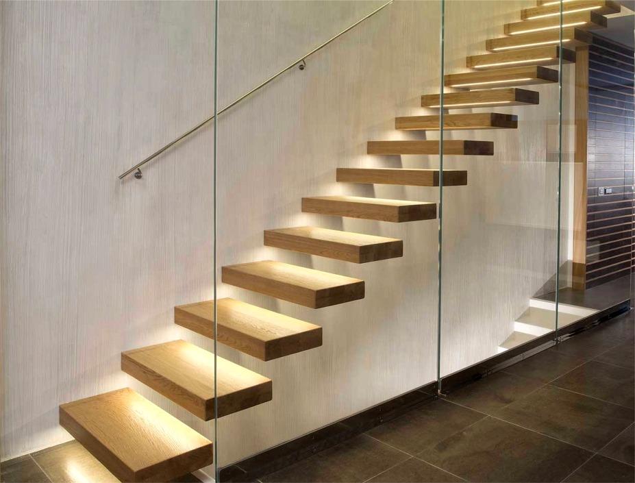 Barandillas Y Escaleras De Cristalvitoria - Escaleras-de-cristal-y-madera